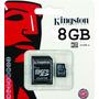 Memoria Micro Sd + Sd 8gb Kingston Para Tel Celular Camara