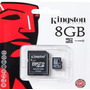 Memoria Microsd 8gb Kingston Celular Camara Blister Sellado!