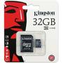 Memoria Kingston Microsd 32gb Microsdhc Clase 4 C/adp Nueva