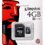 Memoria Micro Sd 4gb Kingston 100% Nuevo