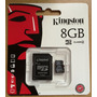 Micro Sd De 8 Gb Adaptador Sd Blister Kingston