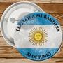 Pin Prendedores Dia De La Bandera Souvenir 56mm