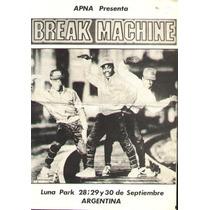 Luna Park - Break Machine - Folleto