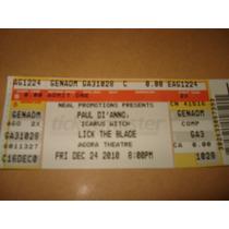 Paul Dianno - Ticket Agora Ballroom Cleveland Usa 24.12.10