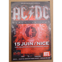 Ac/dc Flyer - Francia - 10cm X15cm - Black Ice Tour