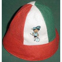 Argentina Mundial 78 Gorro Piluso Logo Mundialito 1978 Paño