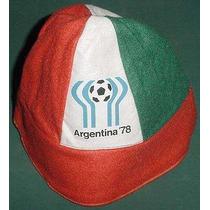 Argentina Mundial 78 Gorro Piluso Logo Mundial 1978 Paño Rbv