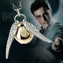 Collar Harry Potter Quidditch Snitch Dorada Y Plata