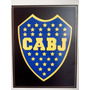 Cuadro. Escudo De Fútbol Boca Juniors. En Madera C/relieve.
