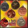 100 Medallas Con Diferentes Diseños De Metal Maciza Relieve