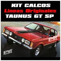 Calco Lineas Coupe Ford Taunus Gt Sp Calomania Ploteoya