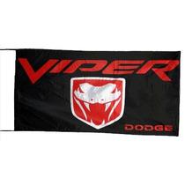 Dodge * Banderas 150x75 Cm Con Cintas Para Atar