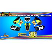 Kit Calcos Suzuki Rm 125 96/98 Con Laminado Competicion
