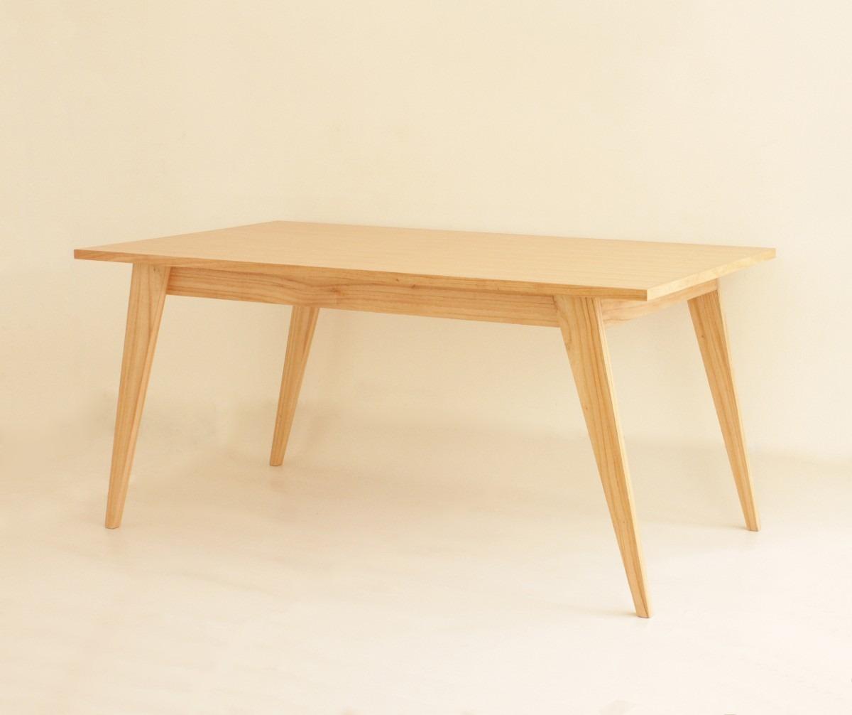 Mesa comedor dise o escandinavo madera paraiso - Mesas madera diseno ...