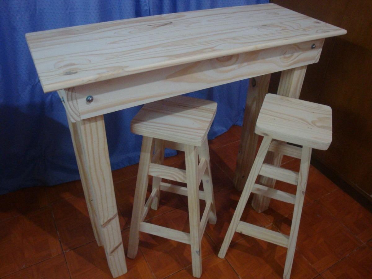 Banquetas taburetes altas de madera para barra desayunador - Mesa alta con taburetes ...