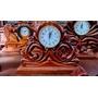 Relojes Tallados A Mano! En Cedro Antiguo