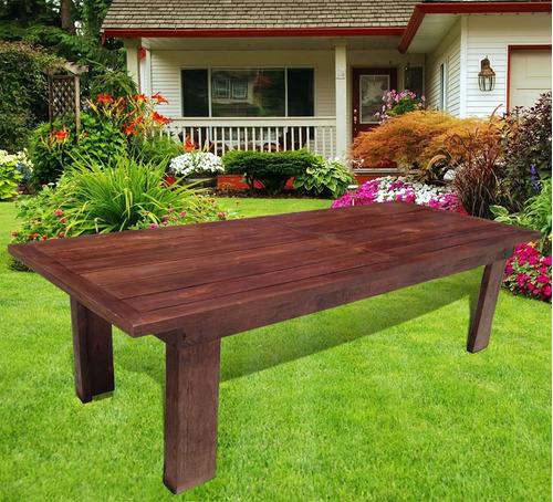 Mesas de madera muebles de madera para jardin y quincho - Mesas de madera para jardin ...
