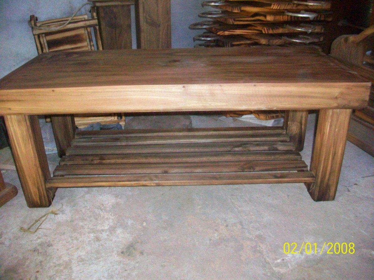 Mesa ratona estilo campo rectangular title for Bar de madera estilo campo