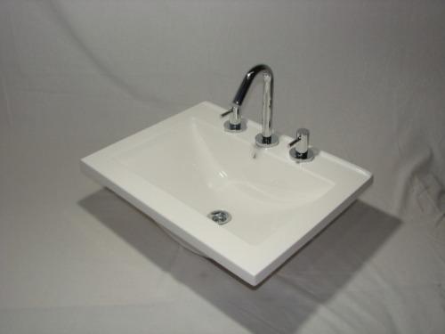 Tipos De Bachas Para Baño:Mesadas Bachas De Marmol Sintetico Para Baño / Vanitorys – $ 860,00