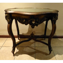 Antigua Mesa De Sala Luis Xv Rococo Francés. Firmada