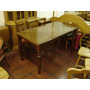 Mesa De Comedor Roble Oscuro 140x80cm /carpinteria Dm