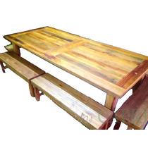 Mesa Rustica De Eucaliptus O Quebracho Consultar Precios