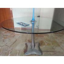 Mesa De Vidrio Y Base De Aluminio De Diseño
