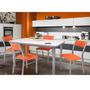 Mesa Cocina 1.40x0.80 + 4 Sillas Tapa Wengue Y Blanco