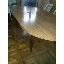 Mesa Comedor Formica Extensible Base Madera Impecable