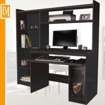 Escritorio Mesa De Pc Reproex + Biblioteca+ Alzada Impresora