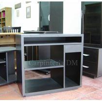 Mesa De Computación 80x50cm Escritorio Wengue Carpinteriadm