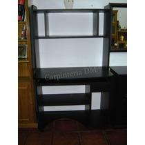 Mesa Computación Con Biblioteca Wengue Negro/ Carpinteriadm