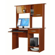 Escritorio Mesa Pc Computadora Moderna Y Alzada Caoba Envío