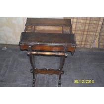 Antiguo Costurero , Alhajero De Roble
