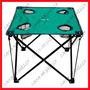Broksol - Mesa Camping Plegable - 4 Porta Vasos - Con Bolso