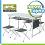 Mesa Plegable Waterdog Con 4 Bancos Ideal Camping O Picnic