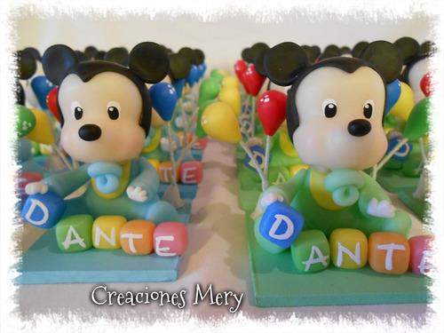 Mickey Bebé En Porcelana Fría