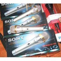 Microfono Sony Y Yamaha Profesional Metatlico Excelente