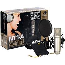 Rode Nt1a Microfono Condenser Incluye Araña Pop Filter +