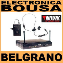 Microfono Inalambrico Vincha Corbatero Novik Vnk200 Belgrano