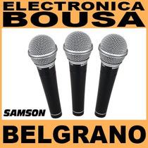 Micrófonos Samson R21s Set De 3 Vocales Con Pipeta Y Estuche