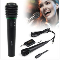 Microfono Inalambrico Y Con Cable 2 En 1 Karaoke En Caseros