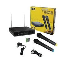 Microfono Inalambrico Skp Uhf-261 Dual-channel De Mano