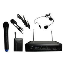 Skp Uhf-271 Set Microfono Inalambrico 3 En 1