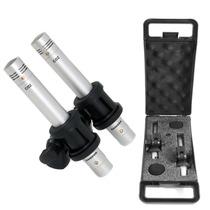 Set 2 Micrófonos Aéreos Condenser Samson C02 Estuche Ins-voz