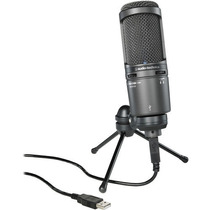 Audio Technica At2020usb+ Mic Conden Usb + Conector P/ Auric