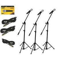Pack X 3 Microfono Skp Pro 58 Vocal Sm58 + 3 Pie Jirafa