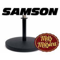 Samson Md5 Soporte P/microfono De Mesa, Base Redonda, Recto