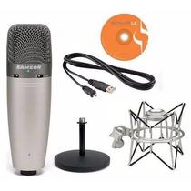 Samson C03upk - Micrófono C03u + Soporte Sp01 Pack Directo