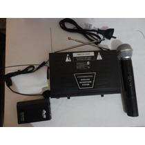 Microfono Inalambrico Doble 1 De Mano Y 1 Vicncha Vhf Gbr
